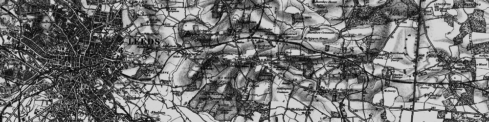 Old map of Whitkirk in 1896