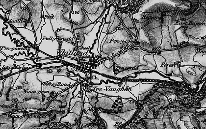Old map of Whitland in 1898