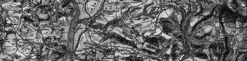Old map of Whitleigh in 1896