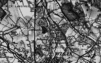 Old map of Whitley in 1896
