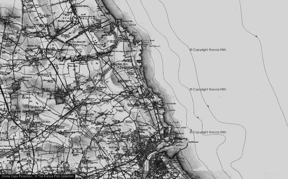 Old Map of Whitley Bay, 1897 in 1897
