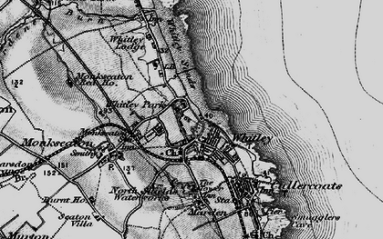 Old map of Whitley Bay in 1897