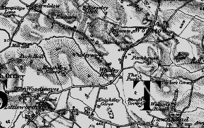 Old map of Whitleyeaves in 1897