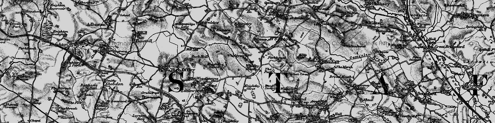 Old map of Whitley Heath in 1897