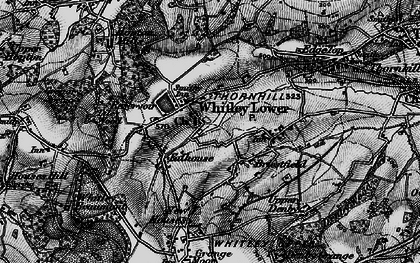 Old map of Whitley Lower in 1896