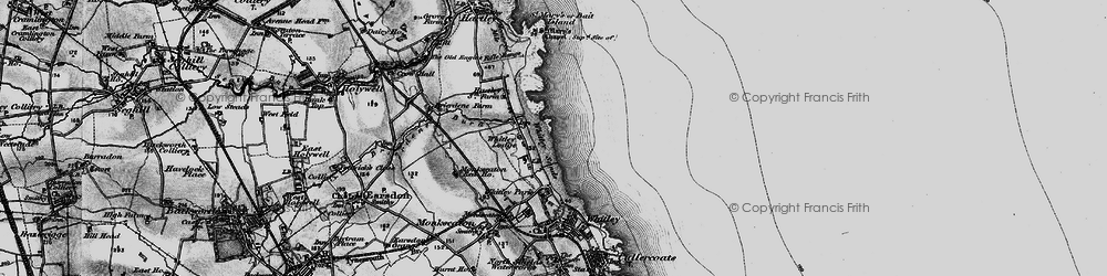 Old map of Whitley Sands in 1897