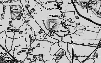 Old map of Whitley Thorpe in 1895
