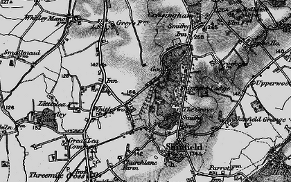 Old map of Whitley Wood in 1895