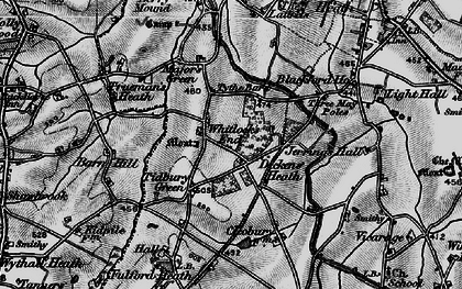 Old map of Whitlock's End in 1899