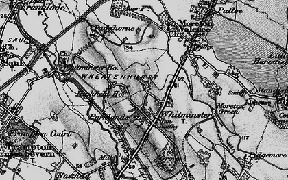 Old map of Whitminster in 1896