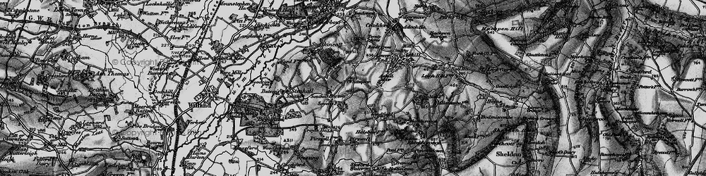 Old map of Whitmoor in 1898