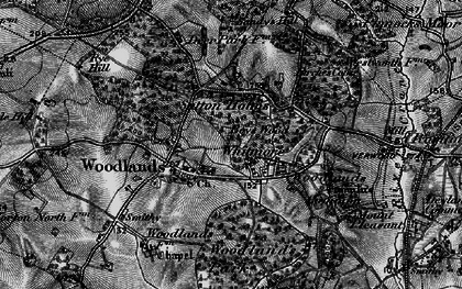 Old map of Whitmore in 1895