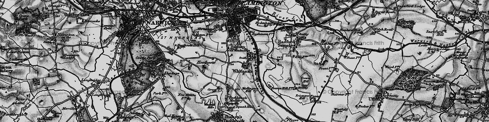 Old map of Whitnash in 1898