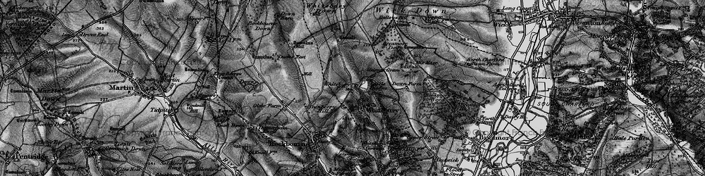 Old map of Whitsbury Down in 1895