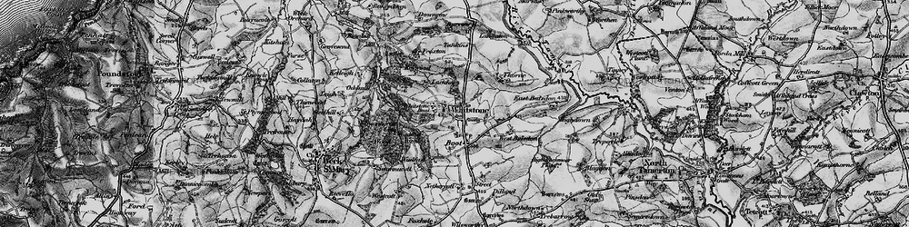 Old map of Willsworthy Cross in 1896
