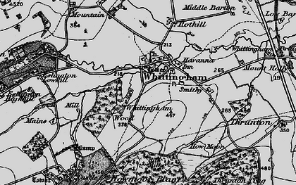 Old map of Whittingham Wood in 1897