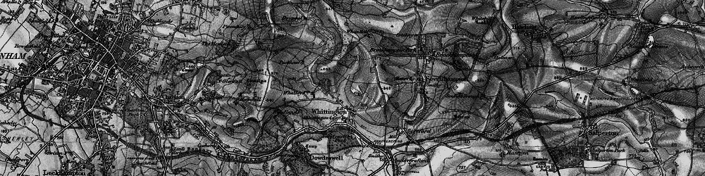 Old map of Whittington Court in 1896