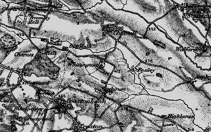 Old map of Whittington in 1897