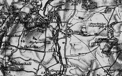 Old map of Whittington Common in 1899