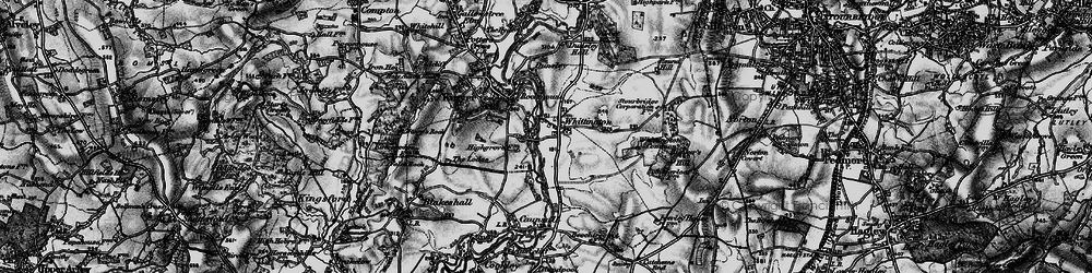 Old map of Whittington in 1899
