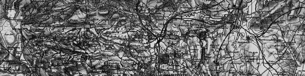 Old map of Whittington Moor in 1896