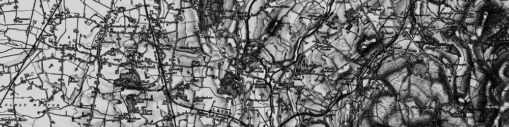 Old map of Whittle-le-Woods in 1896
