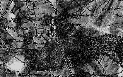 Old map of Whittlebury in 1896