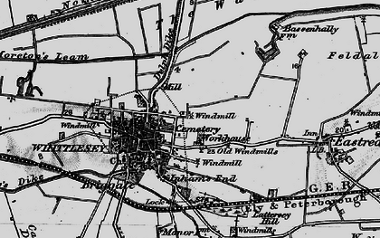 Old map of Whittlesey in 1898