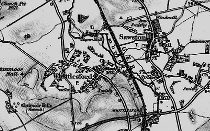 Old map of Whittlesford in 1896