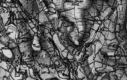 Old map of Whittlestone Head in 1896