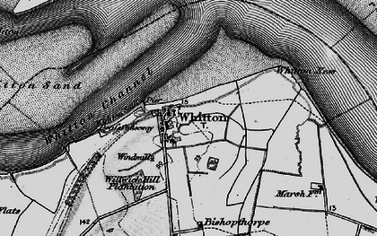 Old map of Whitton Ness in 1895