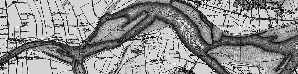 Old map of Willwick Hill Plantn in 1895