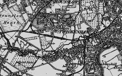 Old map of Whitton in 1896