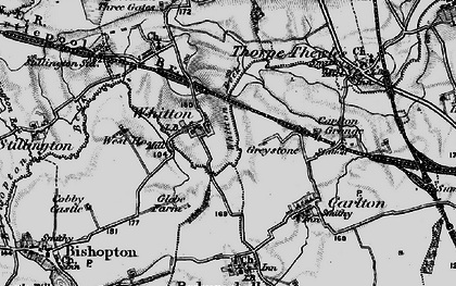 Old map of Whitton in 1898