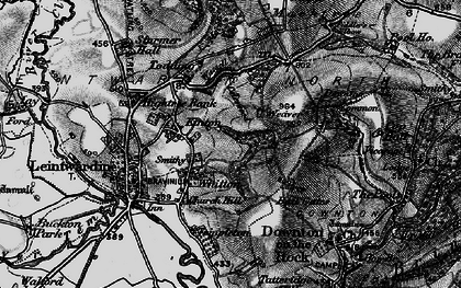 Old map of Whitton in 1899