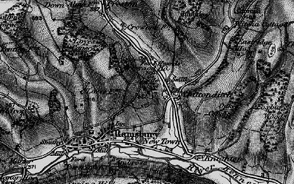 Old map of Whittonditch in 1898