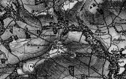 Old map of Whittonstall Sproats in 1898