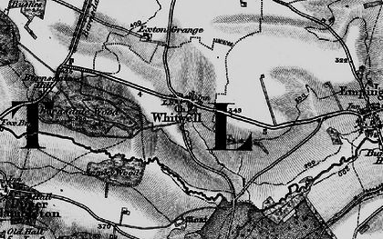 Old map of Whitwell in 1895