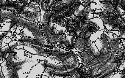 Old map of Whitwell in 1896