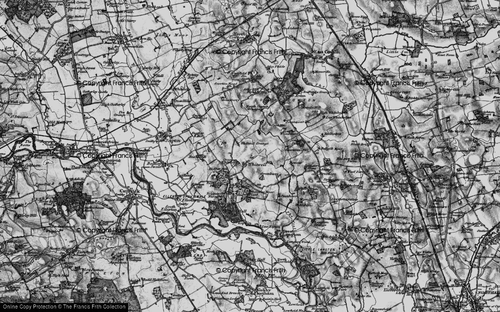 Old Map of Whitwell, 1897 in 1897