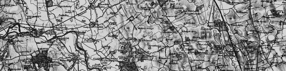 Old map of Whitwell in 1897