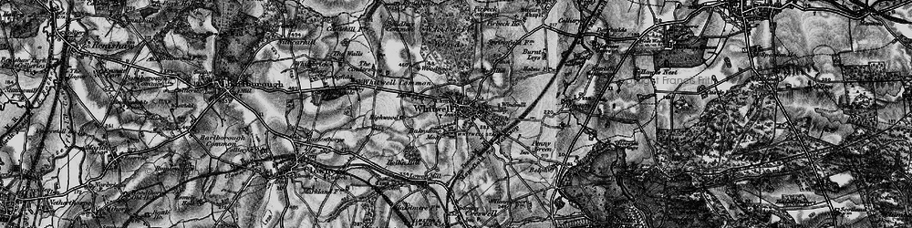 Old map of Whitwell in 1899