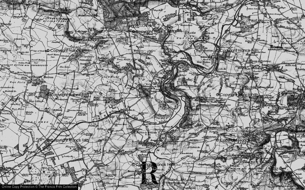 Old Map of Whitwell-on-the-Hill, 1898 in 1898