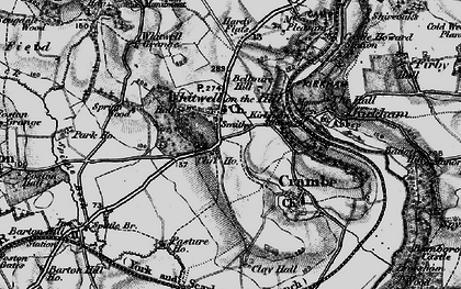 Old map of Whitwell-on-the-Hill in 1898