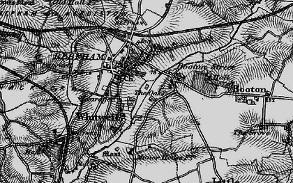Old map of Whitwell Street in 1898