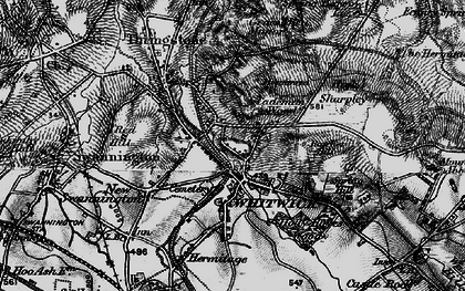 Old map of Whitwick in 1895