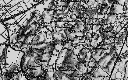 Old map of Whixall in 1897