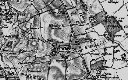 Old map of Whixley in 1898