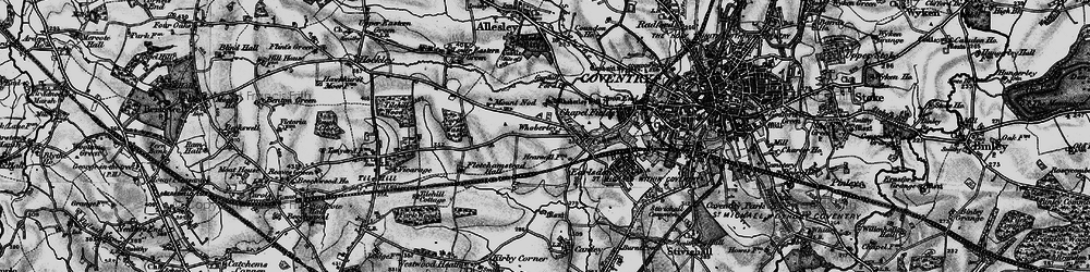 Old map of Whoberley in 1899
