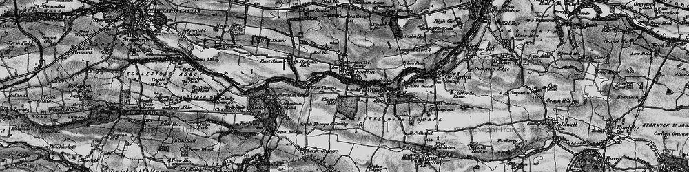 Old map of West Thorpe in 1897